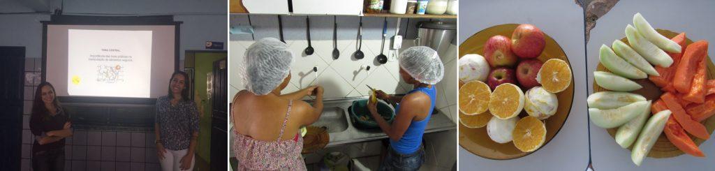 Registros da primeira Oficina de Alimentação e Cultura da Escola Estadual Visconde de Mauá, em Salvador-BA.