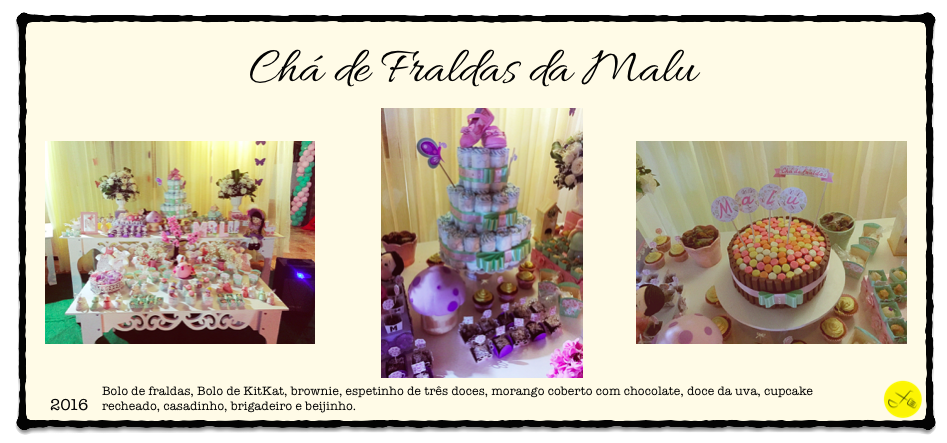 Cha de Fraldas Malu Banner