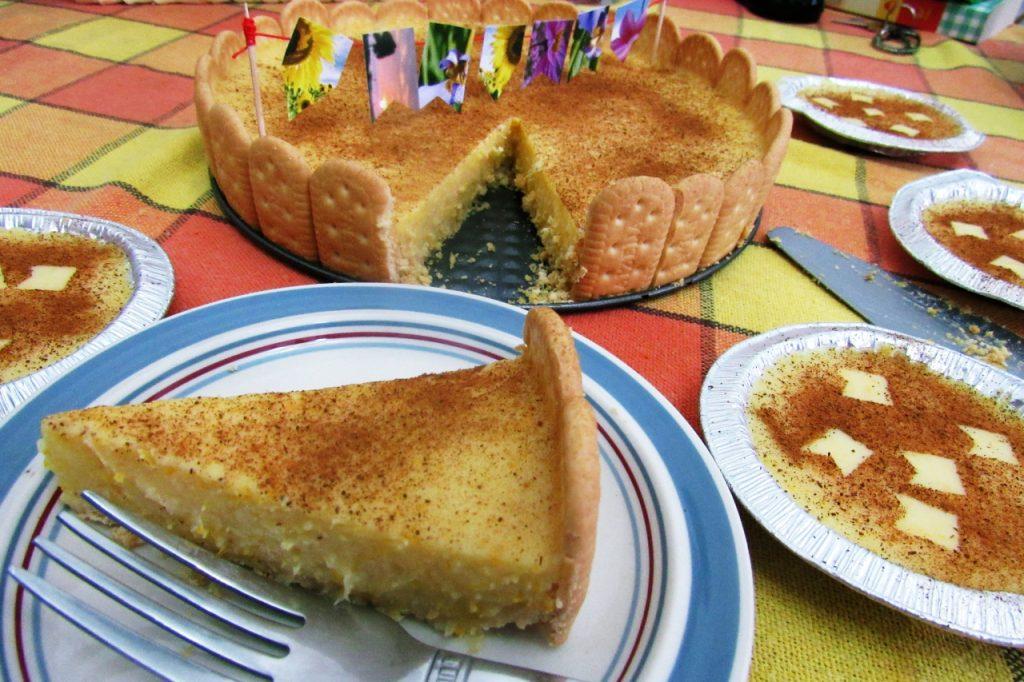 Pedaço da Torta de Canjica.