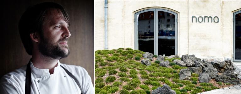 Restaurante Noma, dos chefs René Redzepi (pictured) and head chef Daniel Giusti localizado em Copenhagen (Dinamarca).