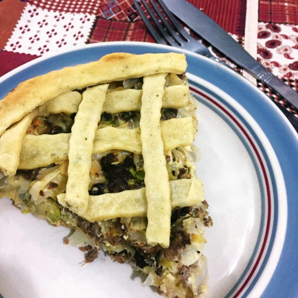 Torta Vegetariana de Legumes com Soja =D