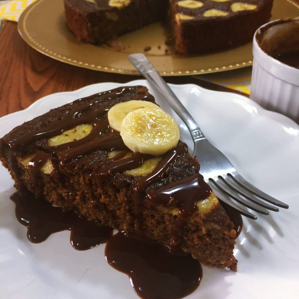 Bolo De Chocolate Com Banana Funcional Cozinha Fitfat